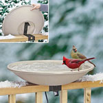 Deck-Mounted Heated Birdbath
